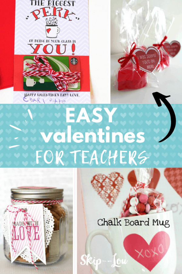 easy valentines for teachers PIN