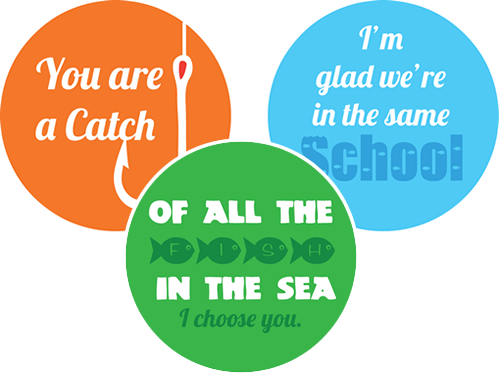 Printable Fish Bowl Valentines