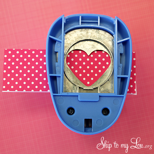 heart cake bunting punch