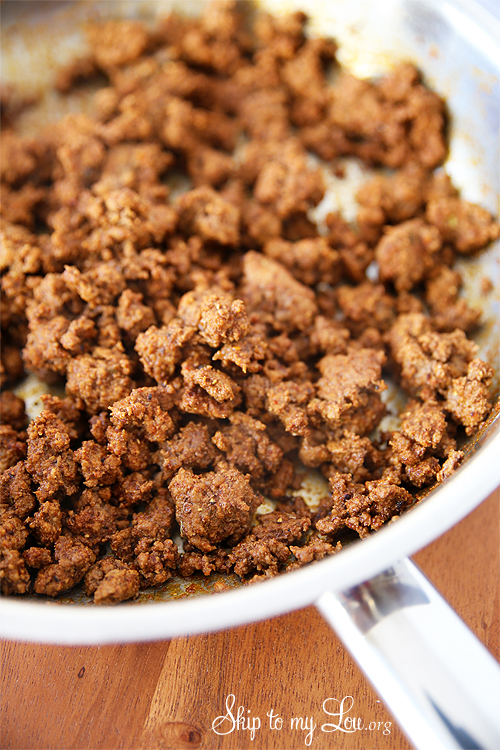 seasoned ground beef homemade taco seasoning