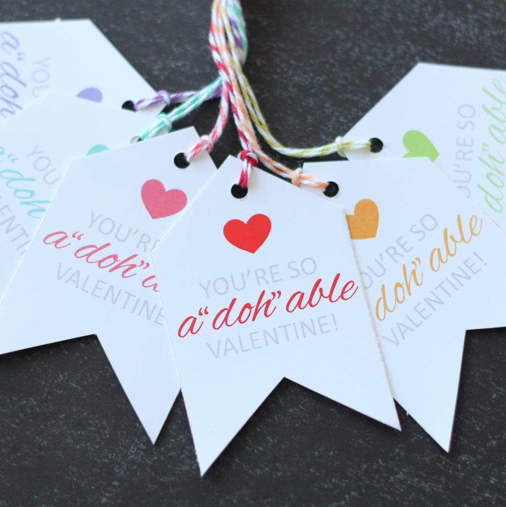 Adohable Valentine Printable Tags - The Twinery