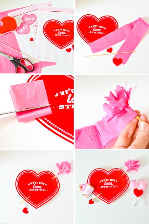 tissue fringe cupids arrow