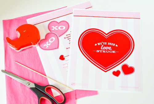 free valentine printable tutorial