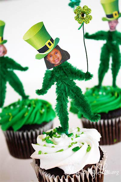 Chenille Leprechaun Cupcake Toppers
