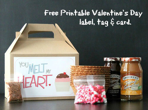 free printable valentine u0026 39 s day label  tag and card from