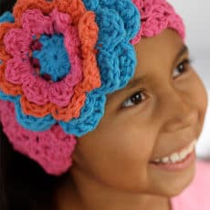 Crochet Flower Headband | Skip To My Lou