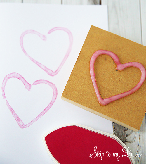 homemade rubber stamps