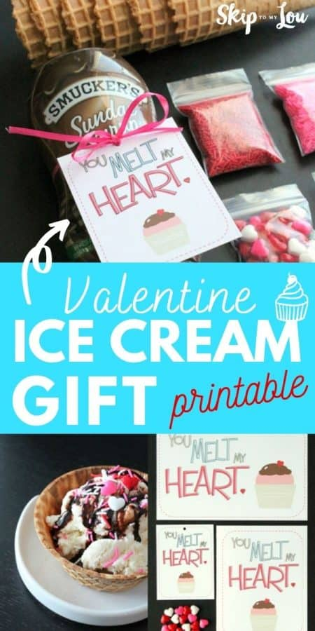 valentine ice cream gift printable PIN