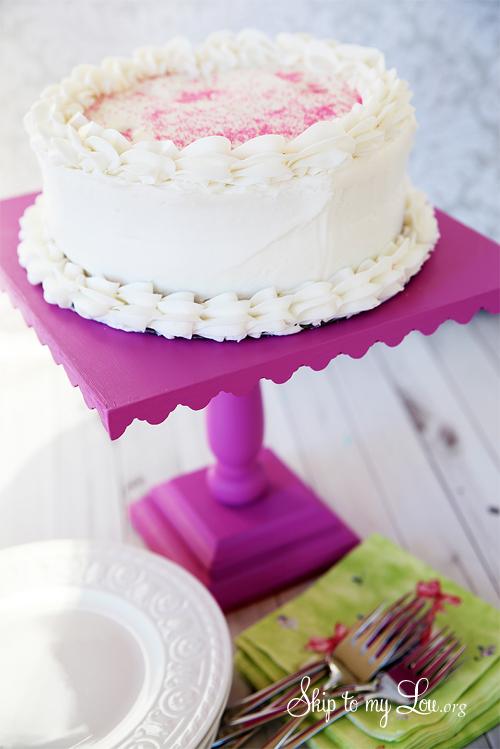 DIY Square Cake Pedestal