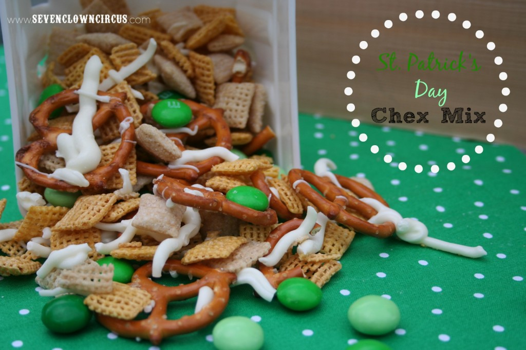 st patrick's day chex mix