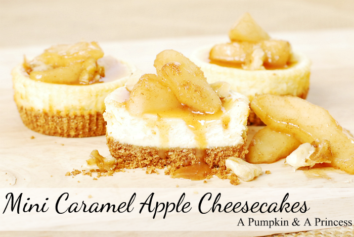 Mini-Caramel-Apple-Cheesecakes