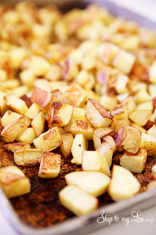how to cook garlic potatoes in the oven