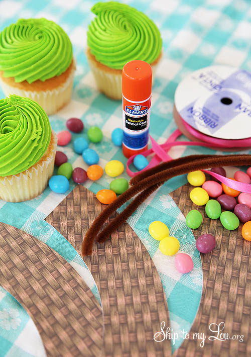 basket cupcake wrapper tutorial