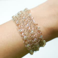 Beaded Wire Crochet Bracelet Pattern - Petals to Picots