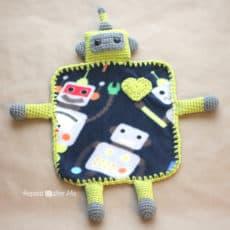 Crochet Robot Lovey Blanket