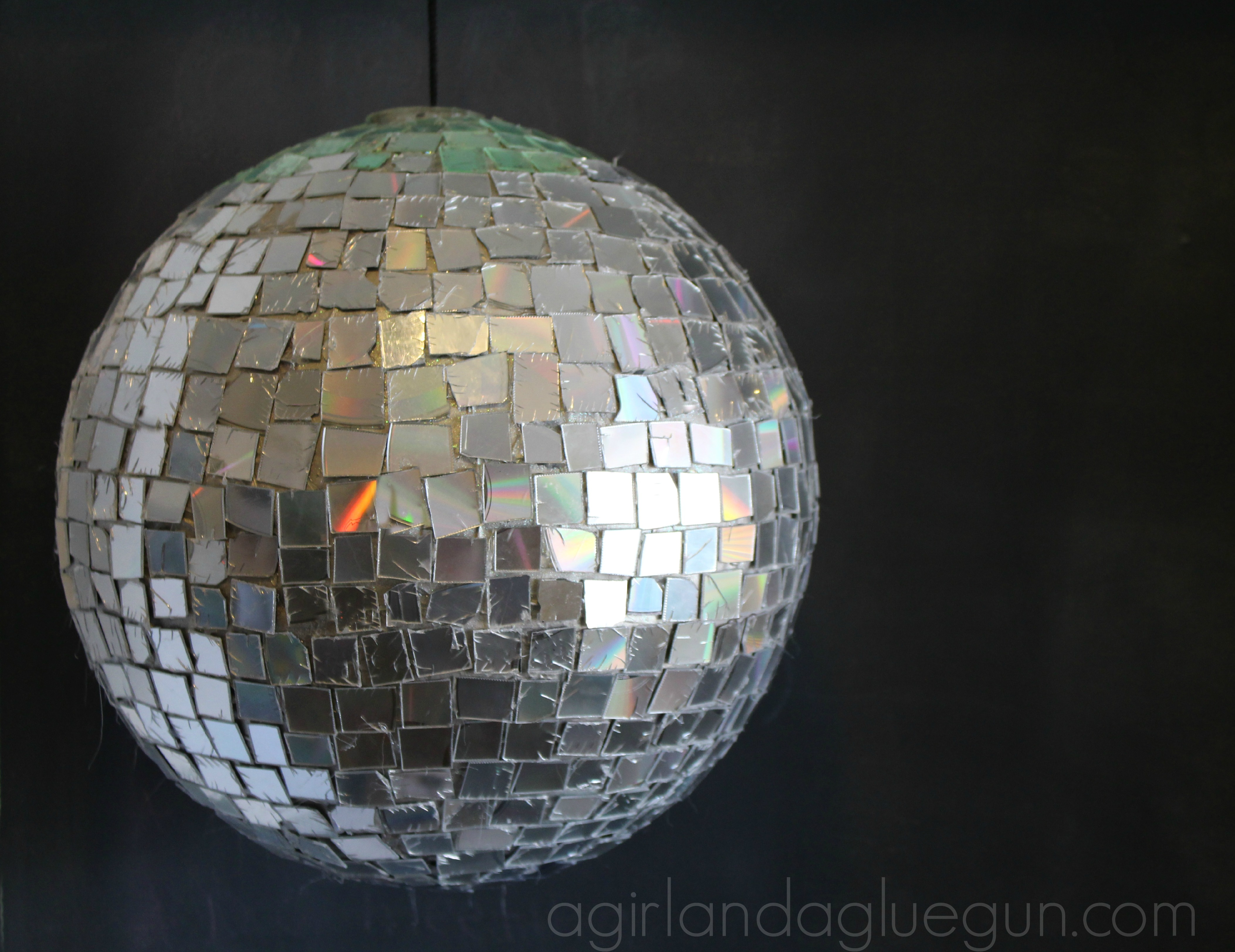 DIY Disco Ball By Girl...