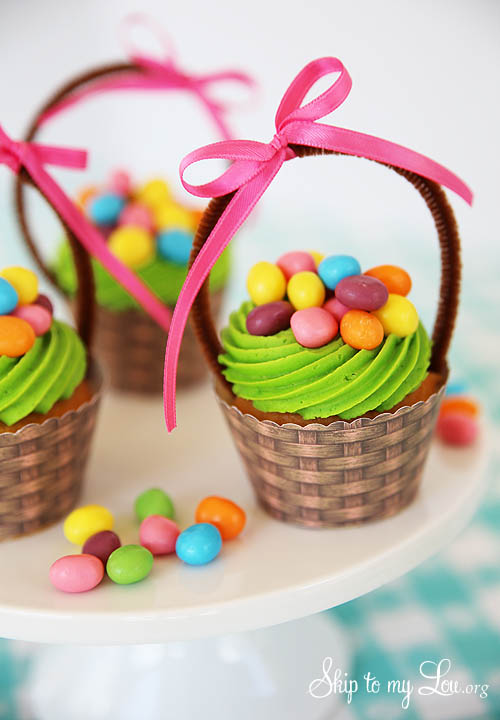 free printable basket cupcake wrapper