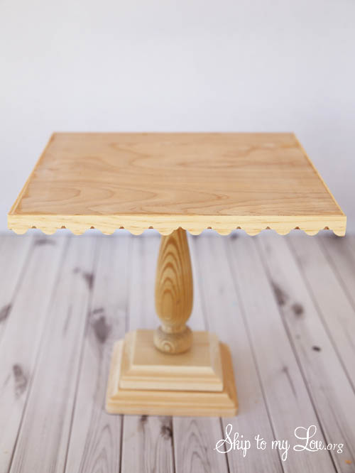 wooden cake stand tutorial