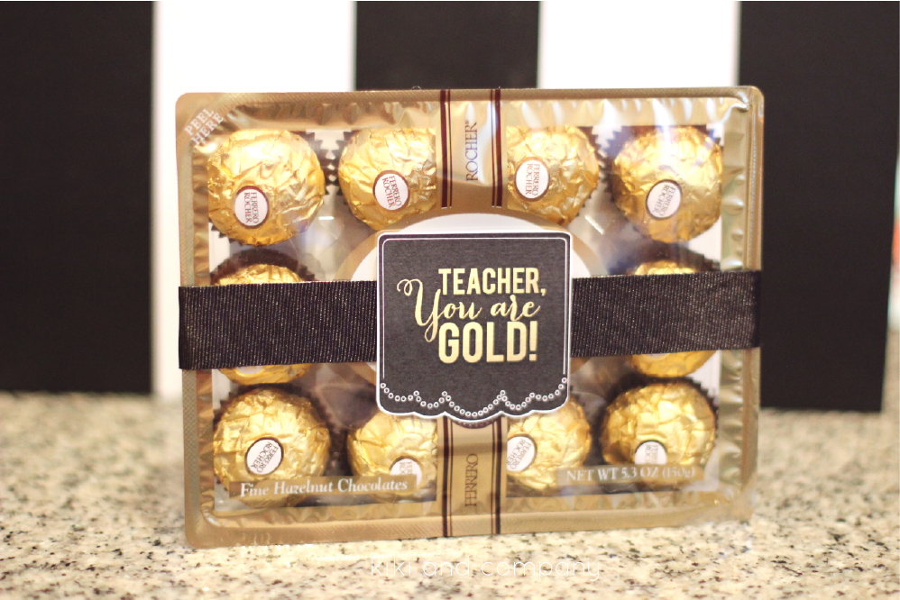 Cute and Simple Teacher's Appreciation gift idea from kiki and company