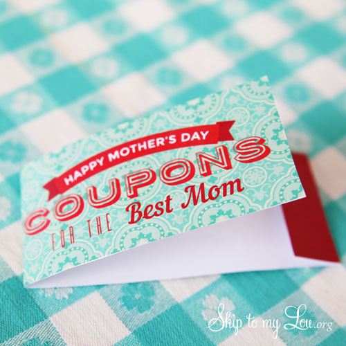 coupon book cover says happy mothers day coupons for the best mom