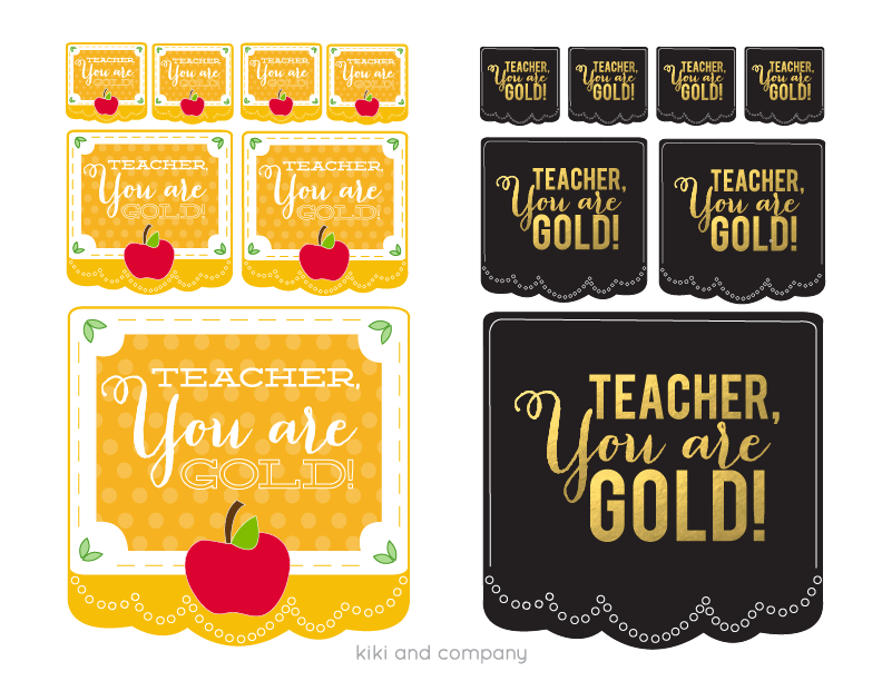 TEACHER YOU ARE GOLD Teacher's Appreciation printables