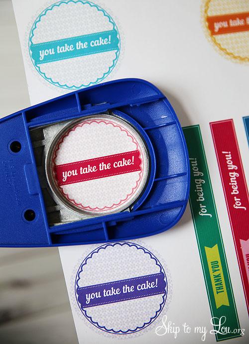 You take the cake printable gift tag
