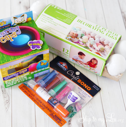Glitter egg supplies