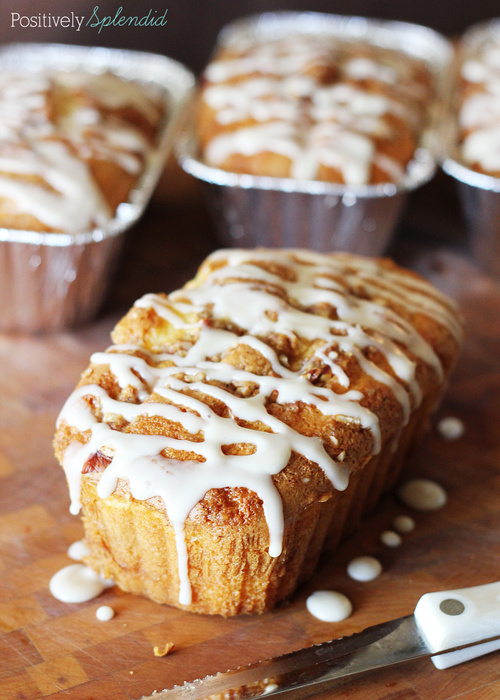 Honey Bun Mini Loaves by Positively Splendid