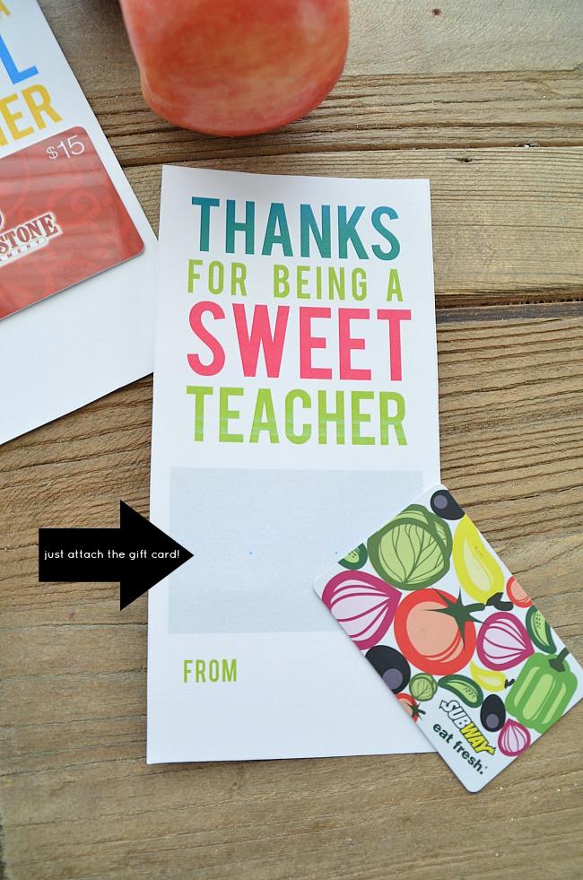 gift card printable