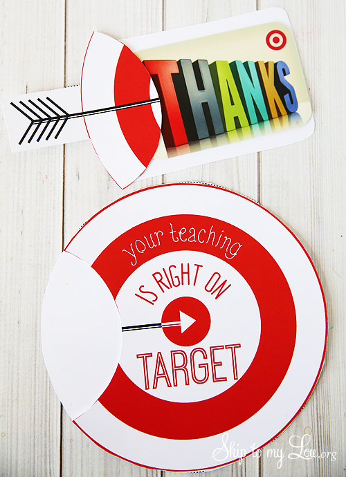 printable target gift card holder