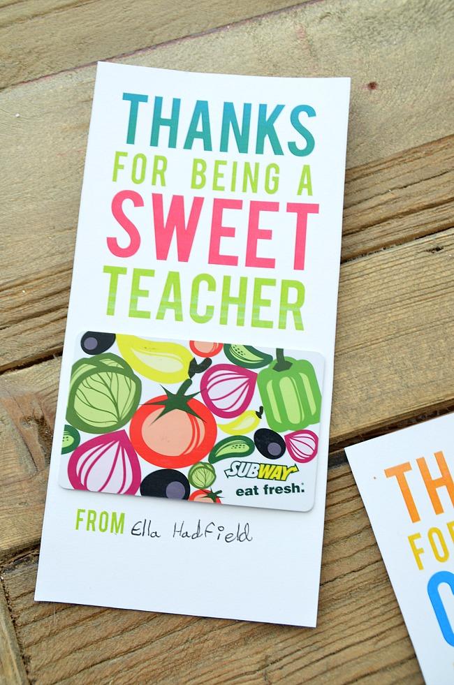 sweet teacher printable