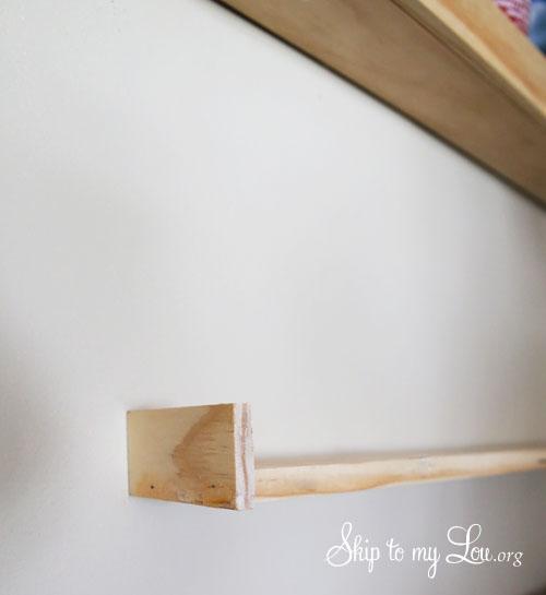wooden shelf for paint bottles step 2