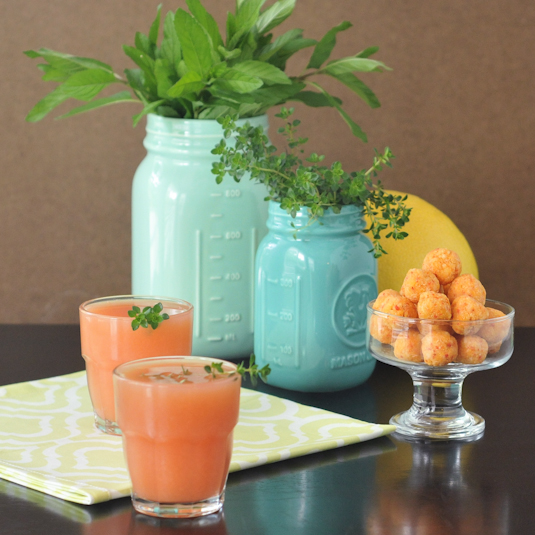 Grapefruit Thyme Mimosa Ritas