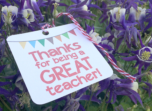 Teacher Appreciation Gift Tag by Resa Design
