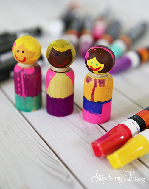 wooden play figures tutorial