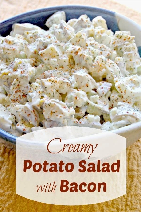 creamy potato salad with bacon