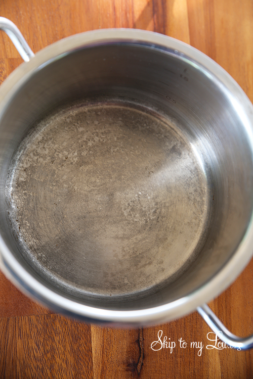 How To Clean A Burnt Pot Cleaning Tip Skip My Lou