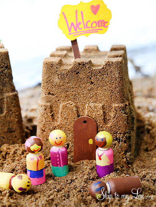 sand castle wooden embelishments