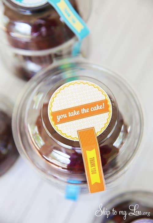 You Take The Cake Teacher Gift Idea Skip To My Lou