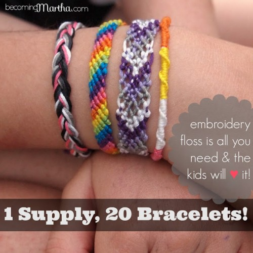 1 Supply, 20+ Bracelets from Becoming Martha