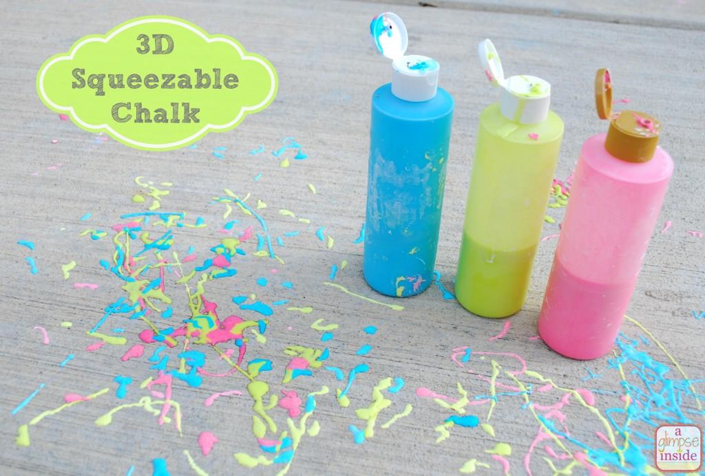 Homemade 3D Chalk--so easy to make!