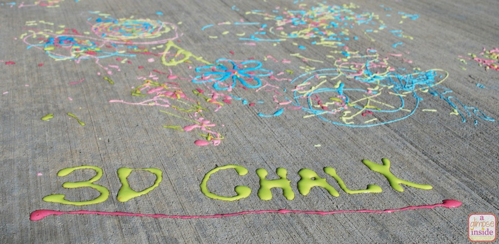 Make some 3D chalk using basic household items. SO FUN!
