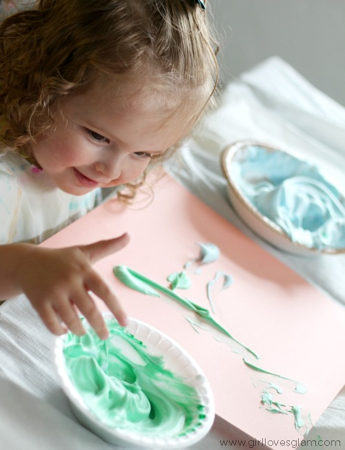 kids puffy finger paint recipe