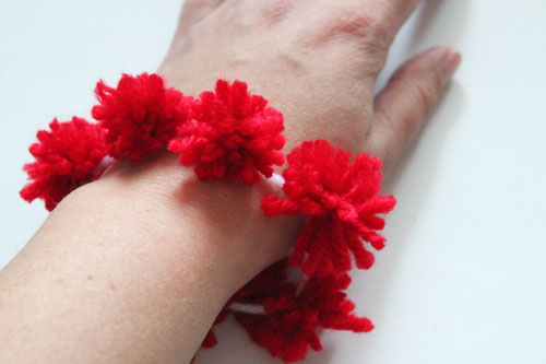 Pom Pom bracelet for kids
