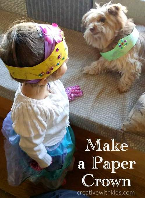Pretend Play How to Make a Paper Crown