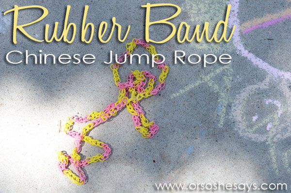 Rubber Band Chinese Jump Rope