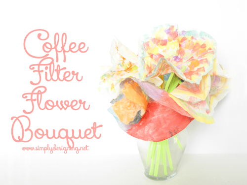coffee filter flower bouquet