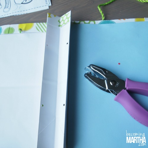 Create a custom coloring book from a gift bag with this simple and crafty upcycle!