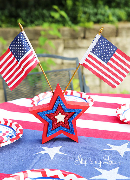 fourth of july star table decoration
