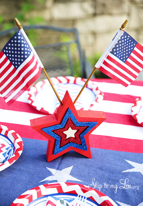 fourth of july table decoration